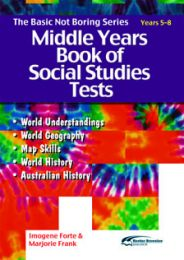 Basic Not Boring Series: Middle Years Book of Social Studies Tests