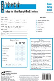 SIGS Home Rating Scales Form (Set of 25): Scales for Identifying Gifted Students