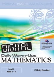 Digital Daily Warm-Ups: Mathematics Level 1 - Years 5-8
