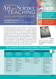 The New Art and Science of Teaching (Quick Reference Guide)