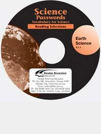 Science Passwords:  Vocabulary for Science - Earth Science (Audio CD)