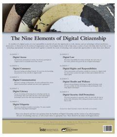 Poster: Nine Elements Of Digital Citizenship