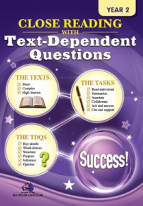Close Reading with Text-Dependent Questions, Year 2