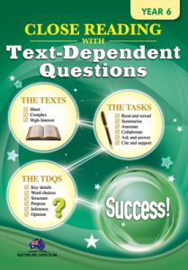 Close Reading with Text-Dependent Questions, Year 6