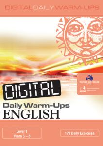 Digital Daily Warm-Ups: English Level 1 – Years 5–8