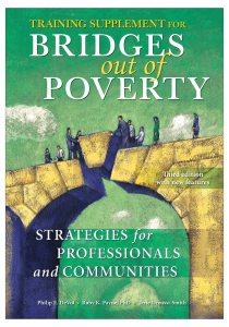 Training Supplement for Bridges Out of Poverty: Strategies for Professionals and Communities, Third Edition with New Features