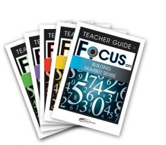 Focus: Building Number Sense Mixed Pack Teacher Books A-E