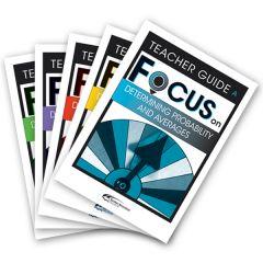 Focus: Determining Probability & Averages Mixed Pack Teacher Books A-E