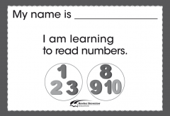 Brigance: Take-Home Activity - Reads Numbers (5)