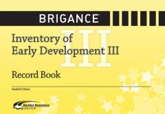 Brigance: IED III 2014: Record Book (Set of 10)