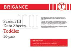 Brigance: Screens III: Data Sheet Toddler (50 Pack)
