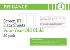 Brigance: Screens III: Data Sheet 4-Year-Old (50 Pack)