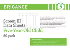 Brigance: Screens III: Data Sheet 5-Year-Old (50 Pack)
