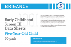 Brigance: Early Childhood Screens III: Data Sheet Five-Year-Old/Foundation (50 Pack)