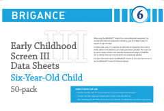 Brigance: Early Childhood Screens III: Data Sheet Six-Year-Old/Year One (50 Pack)