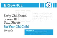 Brigance: Early Childhood Screens III: Data Sheet Six-Year-Old/Year One (50 Pack)