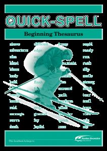 Quick-Spell: Beginning Thesaurus (Set of 5)
