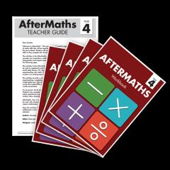 AfterMaths Workbook: Year 4 (Set of 4) + Teacher Guide
