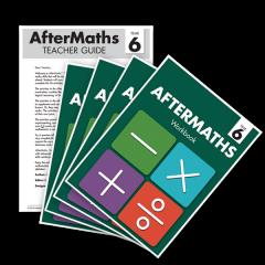 AfterMaths Workbook: Year 6 (Set of 4) + Teacher Guide