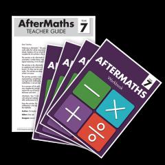 AfterMaths Workbook: Year 7 (Set of 4) + Teacher Guide