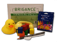 Brigance: Screens III Box of Materials (0-35 months)