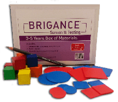 Brigance: Screens III Box of Materials (3-5 Years)