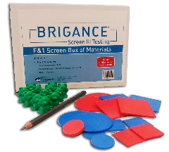 Brigance: Screens III Box of Materials (F & 1)