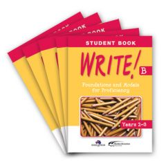 WRITE! Student Book B (Years 2-3): Set of 5