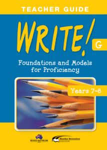 WRITE! Teacher Guide G (Years 7-8)
