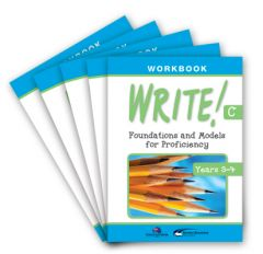 WRITE! Student Workbook C (Years 3-4): Set of 5