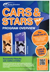 Catalogue: CARS & STARS PLUS Program Overview