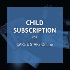 CARS & STARS Online: Child Subscription