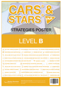 CARS & STARS Plus Strategies Poster: Level B