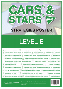CARS & STARS Plus Strategies Poster: Level E