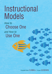 Instructional Models: How to Choose One and How to Use One