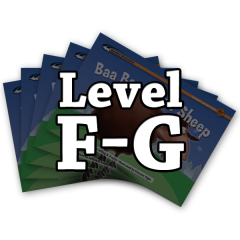 Rising Readers Levels F-G Books Only Bundle