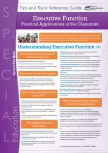 Executive Function: Practical Applications in the Classroom