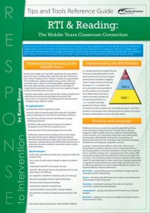 RTI & Reading: The Middle Years Classroom Connection