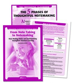 The Thoughtful Classroom Portfolio Series: From Note Taking to Notemaking