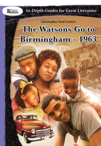Rigorous Reading: In-Depth Guides for Great Literature: The Watsons Go to Birmingham - 1963